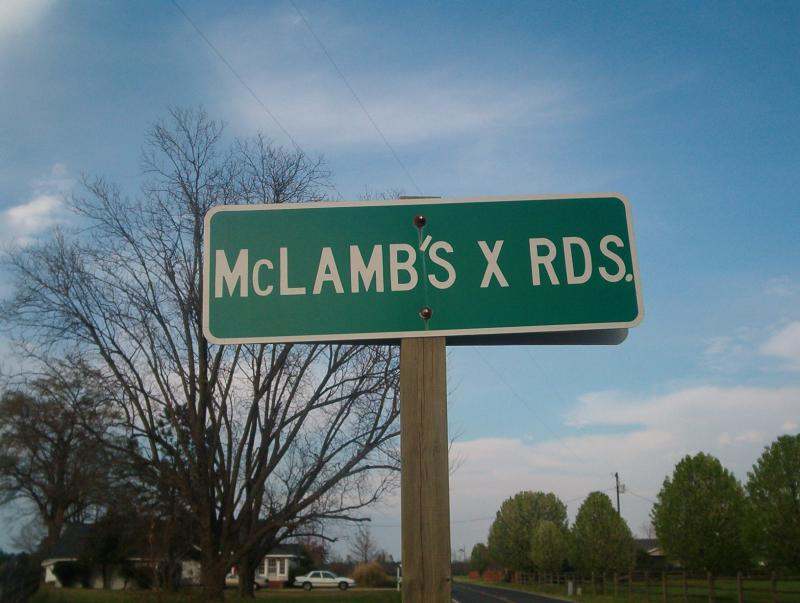 McLamb Crossroad Sign